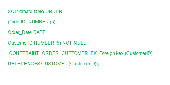 Foreign key in SQL